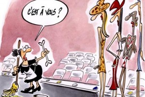 dessin : Trop maigres pour tre belles !