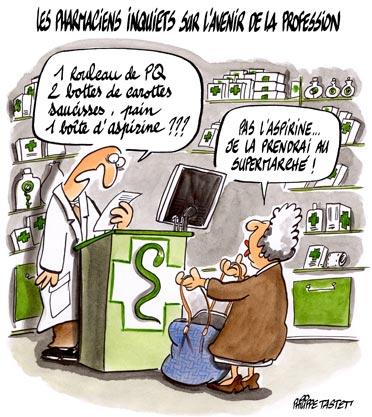 Les pharmaciens inquiets sur l'avenir de leur profession - Philippe ...