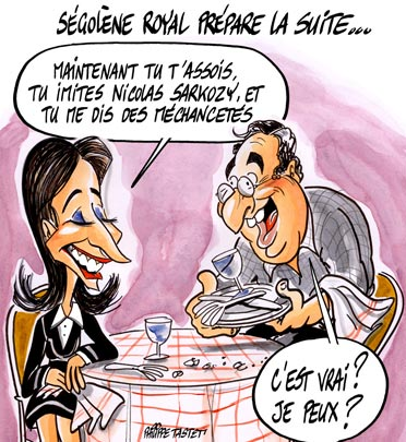 dessin : Sgolne Royal prpare la suite...